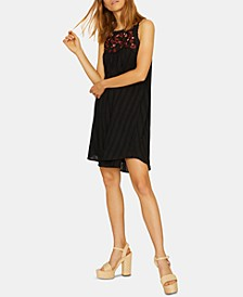 Modern Desert Tiered Embroidered Shift Dress