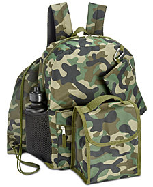 Accessory Innovations Little & Big Boys 5-Pc. Camo-Print Backpack Set