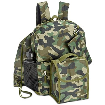 Accessory Innovations Little & Big Boys 5-Piece Camo-Print Backpack Set