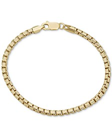 Box Link Chain Bracelet in 18k Gold-Plated Sterling Silver