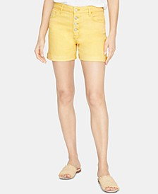 Fearless High-Rise Button-Fly Shorts