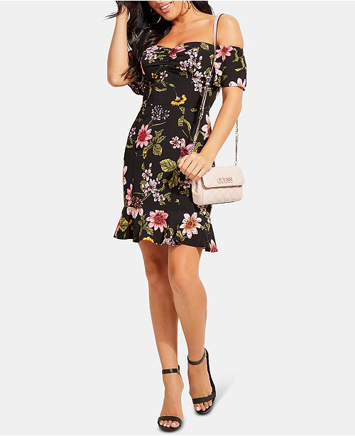 GUESS Sala Off the Shoulder Dress