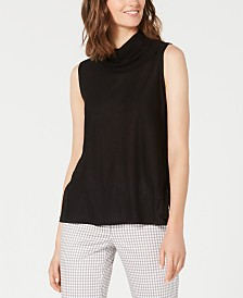 Anne Klein Cowlneck Sleeveless Top