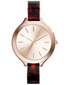 Collection Women's Analog Quartz Brown Strap Watch