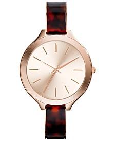 Adrienne Vittadini Collection Women's Analog Quartz Brown Strap Watch