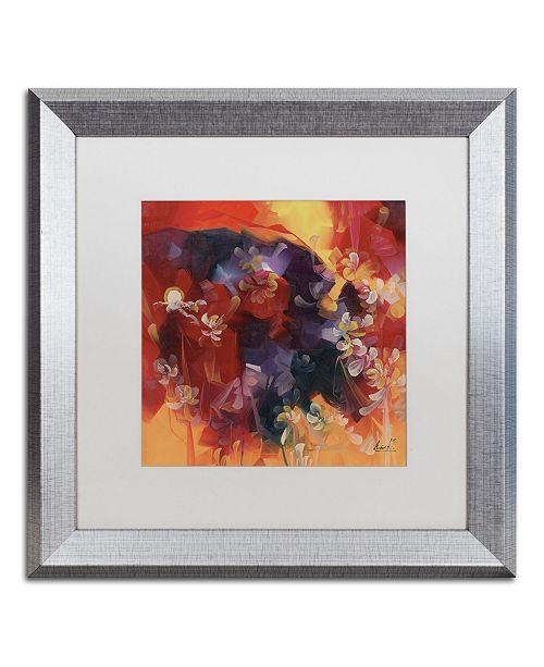 "Trademark Global Masters Fine Art 'Hot Nights' Matted Framed Art - 16"" x 16"""