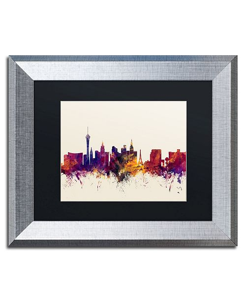 "Trademark Global Michael Tompsett 'Las Vegas Nevada Skyline' Matted Framed Art - 11"" x 14"""