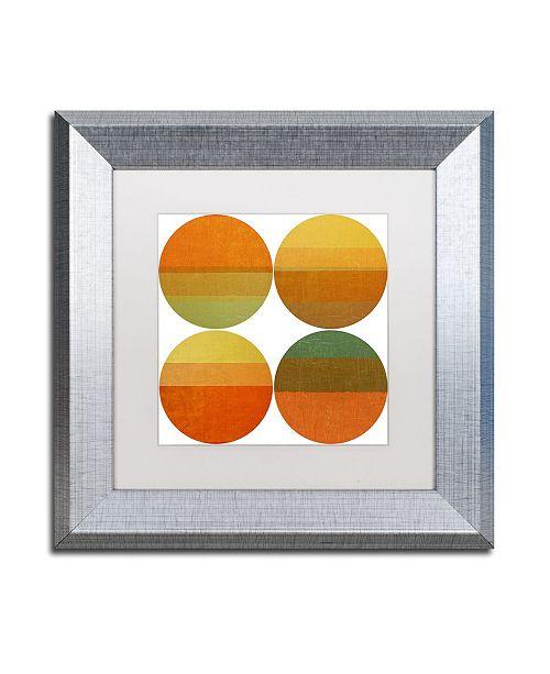 "Trademark Global Michelle Calkins 'Four Suns' Matted Framed Art - 11"" x 11"""