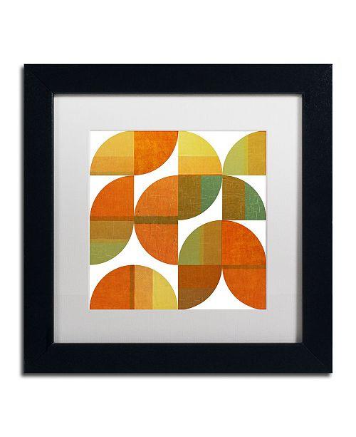 "Trademark Global Michelle Calkins 'Four Suns Quartered 1.0' Matted Framed Art - 11"" x 11"""