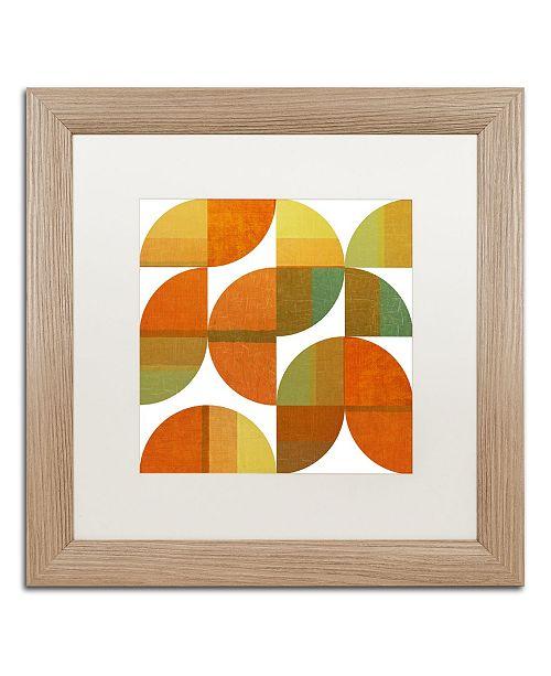 "Trademark Global Michelle Calkins 'Four Suns Quartered 1.0' Matted Framed Art - 16"" x 16"""