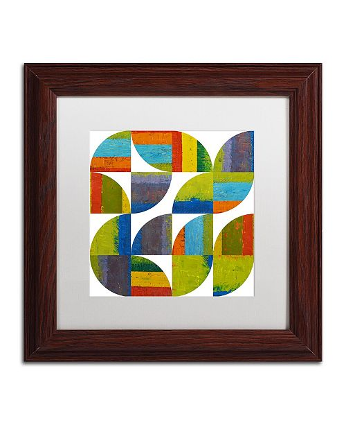 "Trademark Global Michelle Calkins 'Quarter Rounds 4.0' Matted Framed Art - 11"" x 11"""