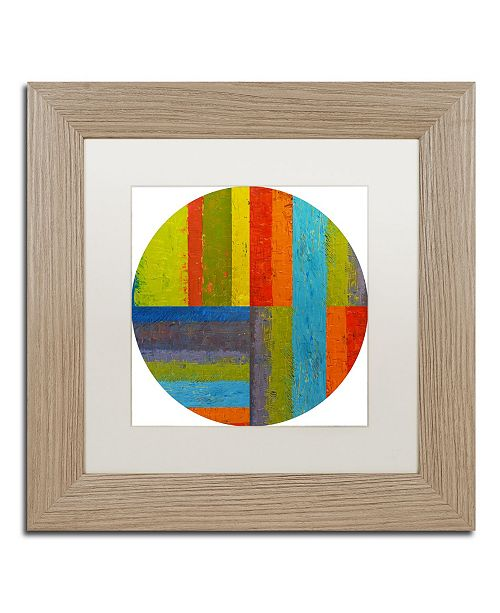 "Trademark Global Michelle Calkins 'Round' Matted Framed Art - 11"" x 11"""