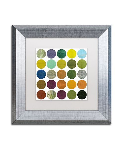 "Trademark Global Michelle Calkins 'Rustic Rounds 6.0' Matted Framed Art - 11"" x 11"""