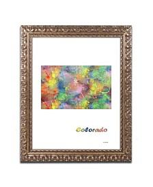 "Marlene Watson 'Colorado State Map-1' Ornate Framed Art - 11"" x 14"""