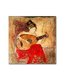 """Joarez 'Vanessa' Canvas Art - 14"""" x 14"""""""