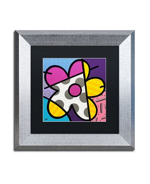 "Trademark Global Roberto Rafael 'Big Flower II' Matted Framed Art - 11"" x 11"""