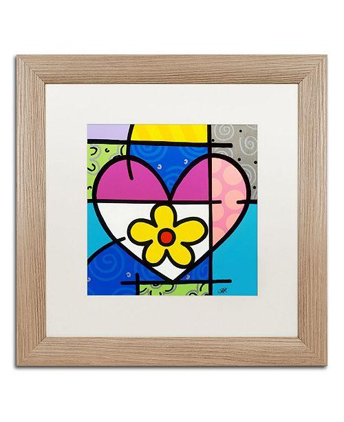 "Trademark Global Roberto Rafael 'Big Heart II' Matted Framed Art - 16"" x 16"""