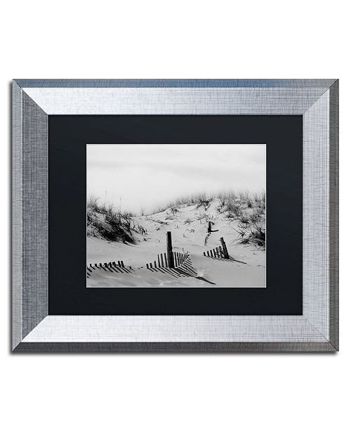 "Trademark Global PIPA Fine Art 'Buried Fences' Matted Framed Art - 11"" x 14"""