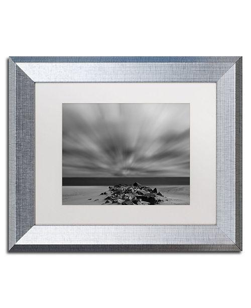 """Trademark Global PIPA Fine Art 'Windy Beach' Matted Framed Art - 11"""" x 14"""""""