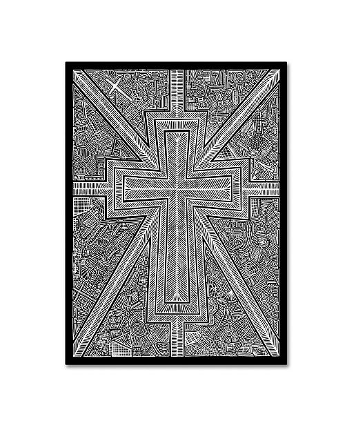 "Trademark Global Viz Art Ink 'White Light' Canvas Art - 14"" x 19"""