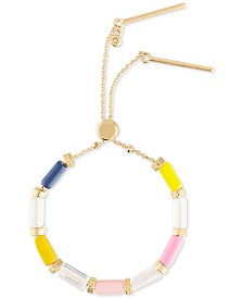 RACHEL Rachel Roy Gold-Tone Crystal Bead Slider Bracelet