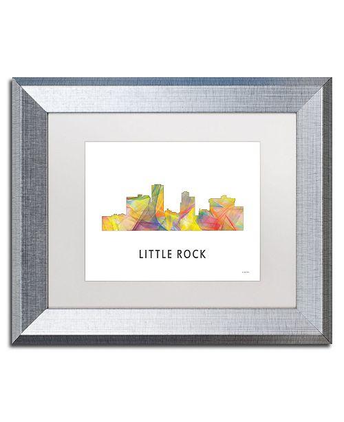 "Trademark Global Marlene Watson 'Little Rock Arkansas Skyline WB-1' Matted Framed Art - 11"" x 14"""