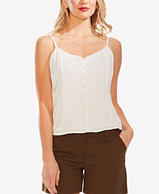 Rumpled Button-Front Camisole