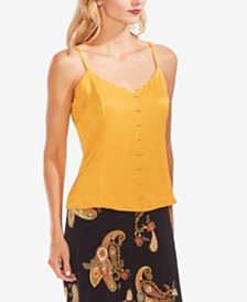 Vince Camuto Rumpled Button-Front Camisole