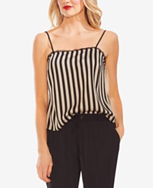 Vince Camuto Striped Lace-Trim Camisole