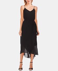 Vince Camuto Tie-Waist Ruffled Dress
