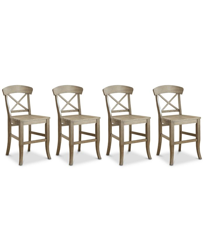 Furniture - Layla Counter Stool, 4-Pc. Set (4 Counter Stools)