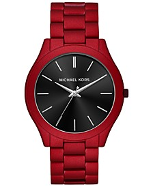 Men's Slim Runway Red Stainless Steel Bracelet Watch 44mm