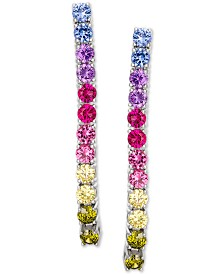 Giani Bernini Cubic Zirconia Rainbow Drop Earrings in Sterling Silver, Created for Macy's