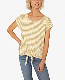 Maddy Linen Tie-Hem T-Shirt
