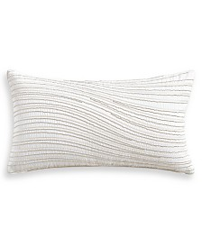 "Hotel Collection Moire 14"" x 26"" Decorative Pillow, Created for Macy's"