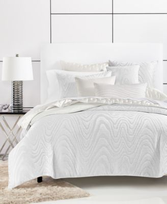 CLOSEOUT! Moire Full/Queen Duvet Cover, Created for Macy's
