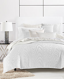 CLOSEOUT! Hotel Collection Moire Full/Queen Duvet Cover, Created for Macy's