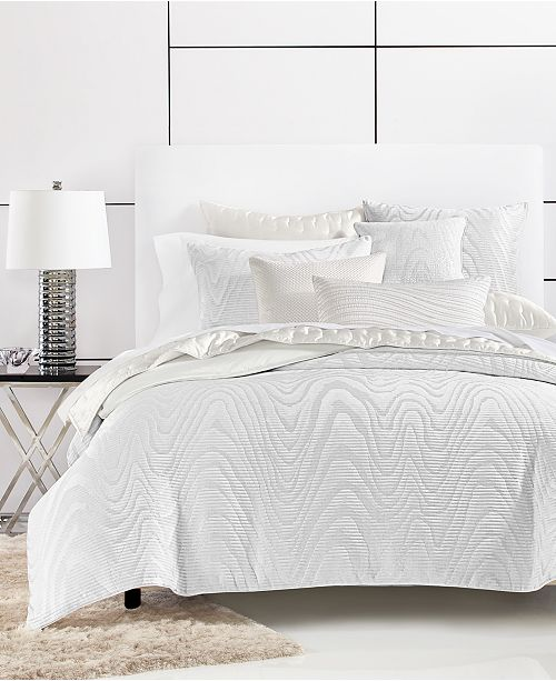 Hotel Collection Moire King Duvet Cover, Created for Macy's