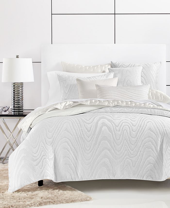 Hotel Collection - Moire Full/Queen Duvet Cover