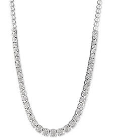 """Diamond 18"""" Statement Necklace (1/3 ct. t.w.) in Sterling Silver"""