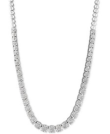 "Diamond 18"" Statement Necklace (1/3 ct. t.w.) in Sterling Silver"
