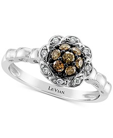 Le Vian Chocolatier® Diamond Statement Ring (1/3 ct. t.w.) in 14k White Gold