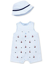 Little Me Baby Boys 2-Pc. Cotton Hat & Sailboat Sunsuit Set