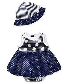 Little Me Baby Girls 2-Pc. Daisy Cotton Bodysuit & Hat Set