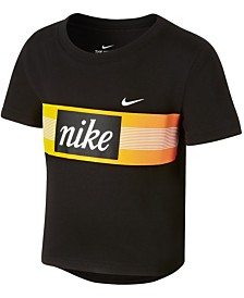 Nike Big Girls Cropped Cotton T-Shirt