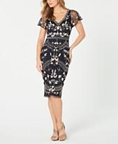 299e4dbf1d6 Adrianna Papell Embellished Flutter-Sleeve Sheath Dress
