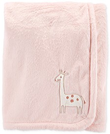 Carter's Baby Girls Plush Giraffe Blanket