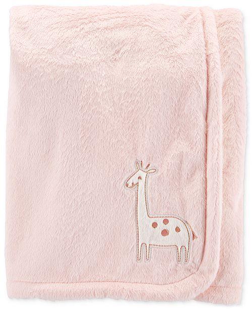 Carter's Baby Girls Plush Giraffe Blanket