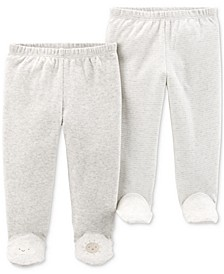 Baby Boys or Girls 2-Pk. Cotton Footed Pants