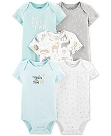 Baby Boys & Girls 5-Pk. Cotton Bodysuits
